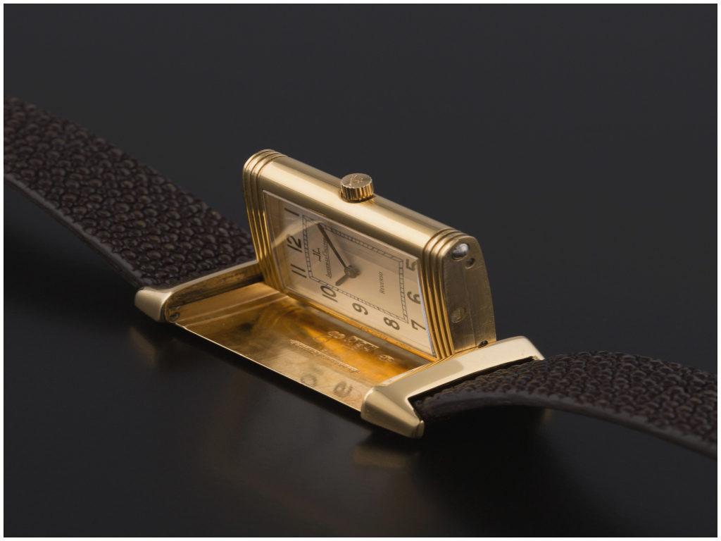 Bracelet Montre Reverso Unique JAEGER LECOULTRE Reverso Montre bracelet mécanique en or